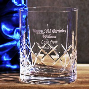 Single Personalised Whisky Tumbler in Gift Box