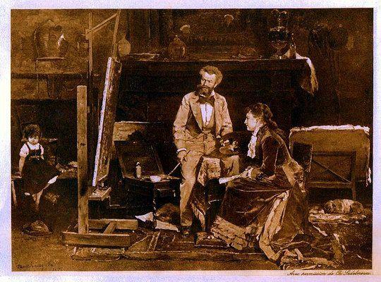 Munkácsy Mihály (1844-1900) - Tanulmány a Zálogház című képhez