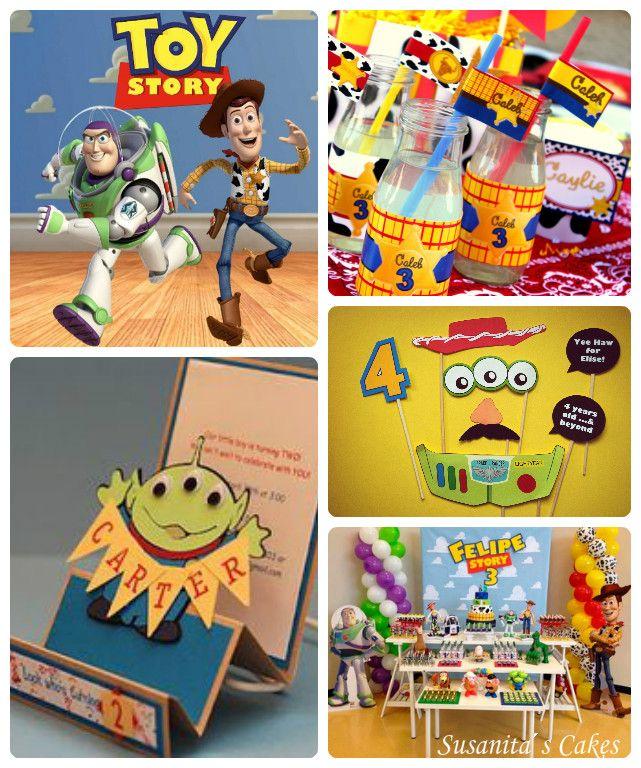 Ideas para una fiesta con tema Toy Story!...en colores amarillo, verde y azul!...#toystory #fiesta #ideas #decoracion #estilo #partyideas #partydecor #disneyparty #disney