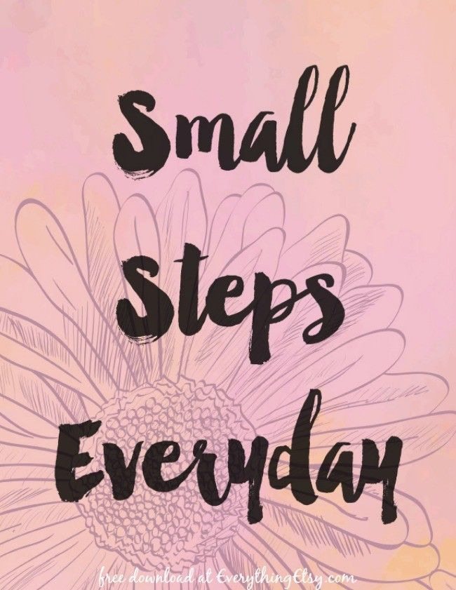 Small Steps Everyday {Free Printable}