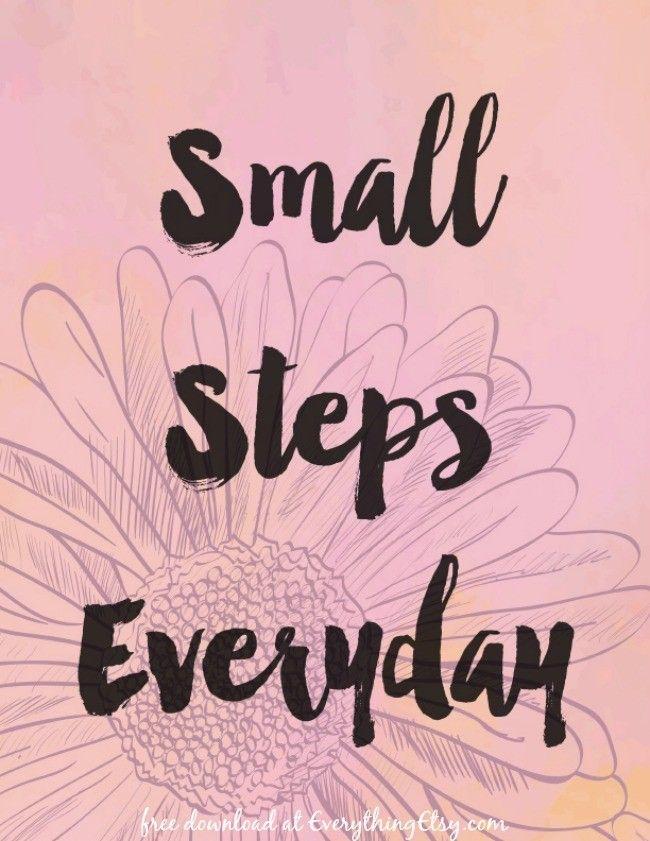 Small Steps Everyday {Free Printable}