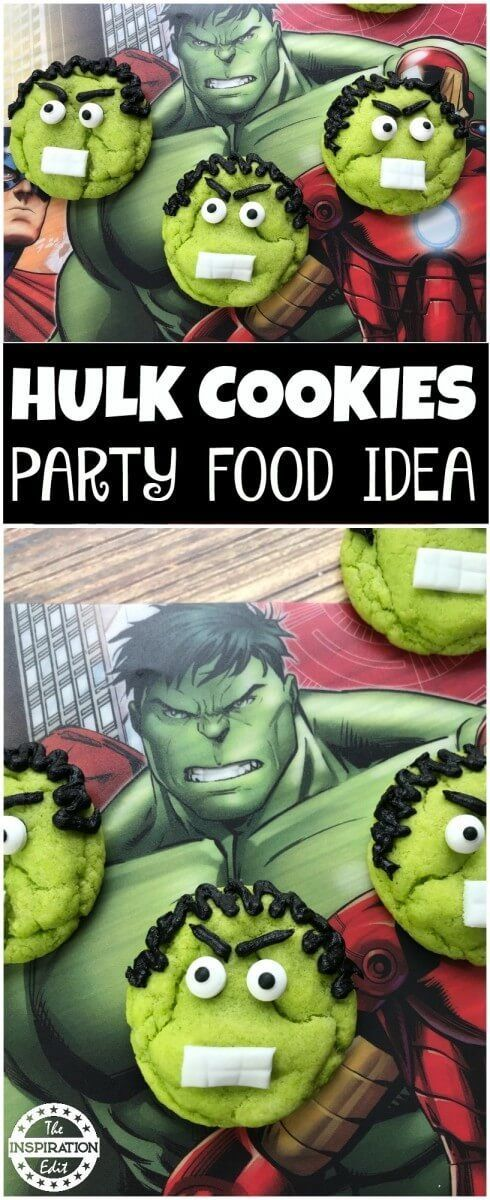 Hulk Cookies Party Food Idea Recipe And Tutorial  - The perfect treat to celebrate avengers Infinity War or to make for a Super Hero themed party. Visit for recipe and instructions. #Superhero #Superheros #avengers #avengersinfinitywar #partyfood #partyfoodideas #TheHulk #Hulk  #Cookies #Funfoodideas