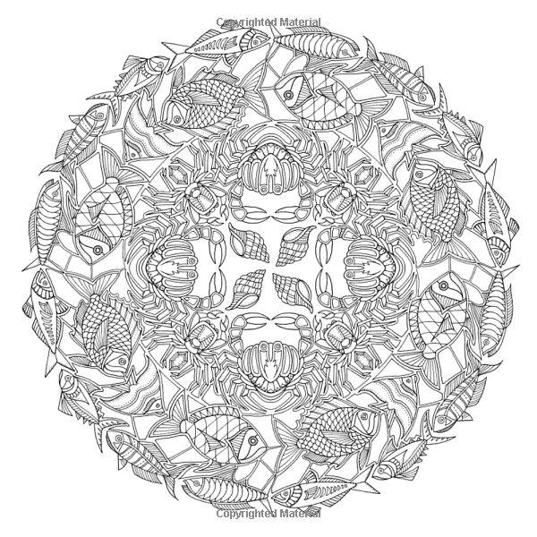 ocean mandalas coloring pages - photo #6