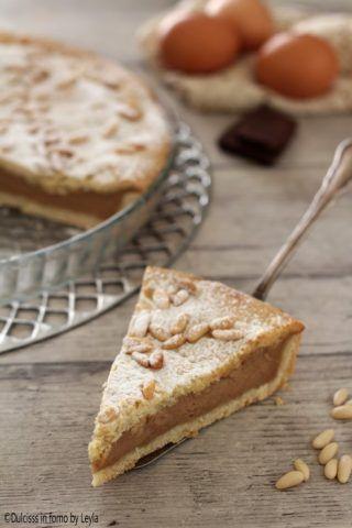 Torta della Nonna al cioccolato cremosa e golosa ricetta Dulcisss in forno by Leyla