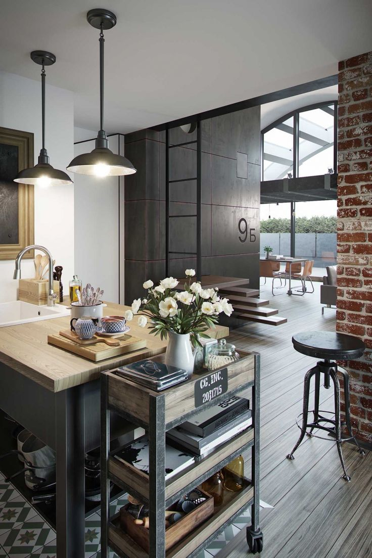 Кухня в стиле лофт - Галерея 3ddd.ru