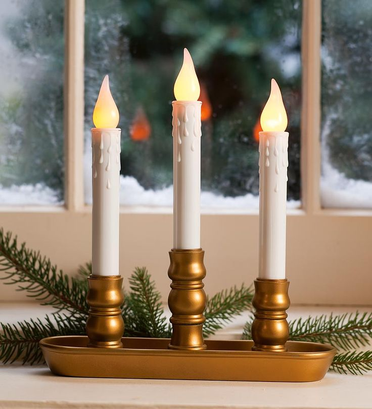 Sale! Battery-Operated Triple Window LED Window Candle