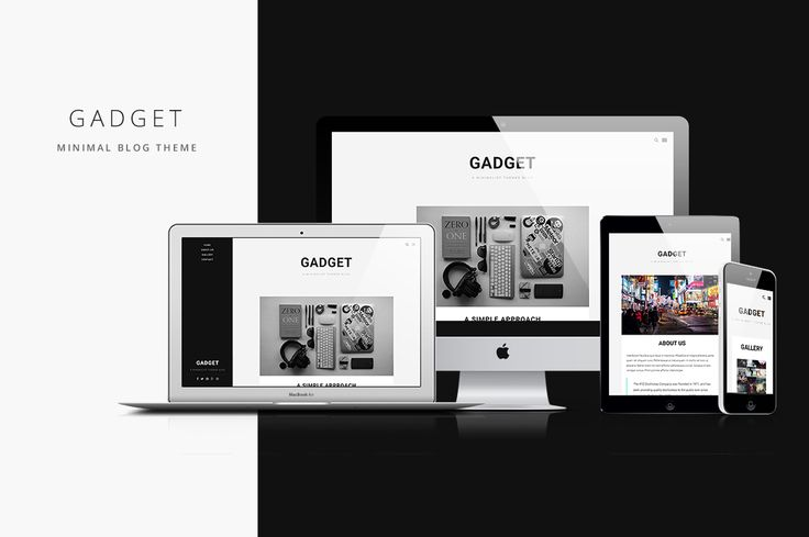 All yours. Gadget - Minimal Blog Theme #freedownload Creative Market + 5 more cool #freebies