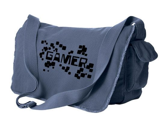 Geek Bag Gamer messenger bag retro gaming by gesshokudesigns