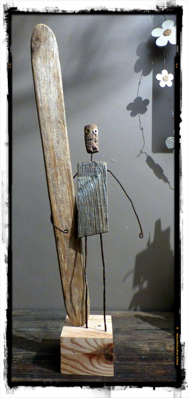 Création surf art en bois flotté                                                                                                                                                                                 Plus