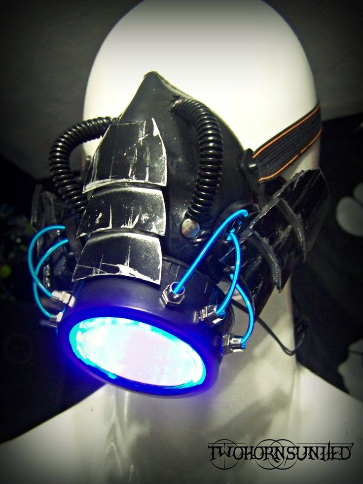 The Leviathan cyber LED rave gas mask (for sale) by TwoHornsUnited on deviantART