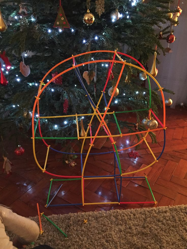 how to make a ferris wheel with straws
