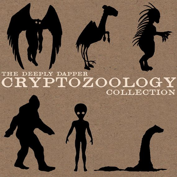 The CRYPTOZOOLOGY STICKER Collection  From Deeply Dapper Sasquatch, Alien, Chupacabra, Mothman, Loch Ness Monster and Jersey Devil