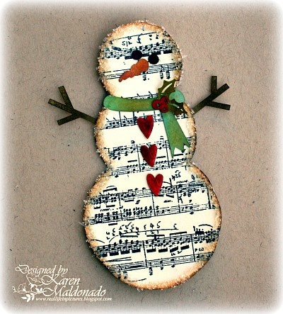 snowman made with music sheets