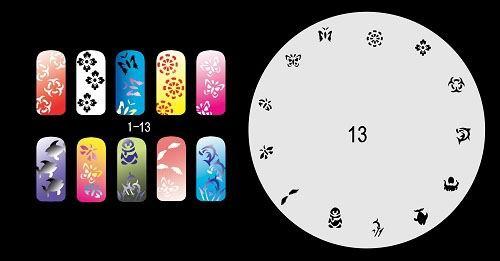 Schablonen für Fingernägel (Airbrush) - nail airbrush stencils