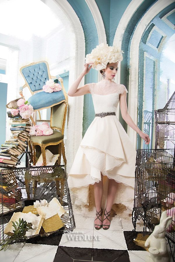 """Return To Wonderland   This WedLuxe fashion editorial appears in our Summer/Fall 2014 """"In Love With Colour"""" issue, and was inspired by Lewis Carroll's classic tale, Alice in Wonderland   Photography by: Josh Cornell"""