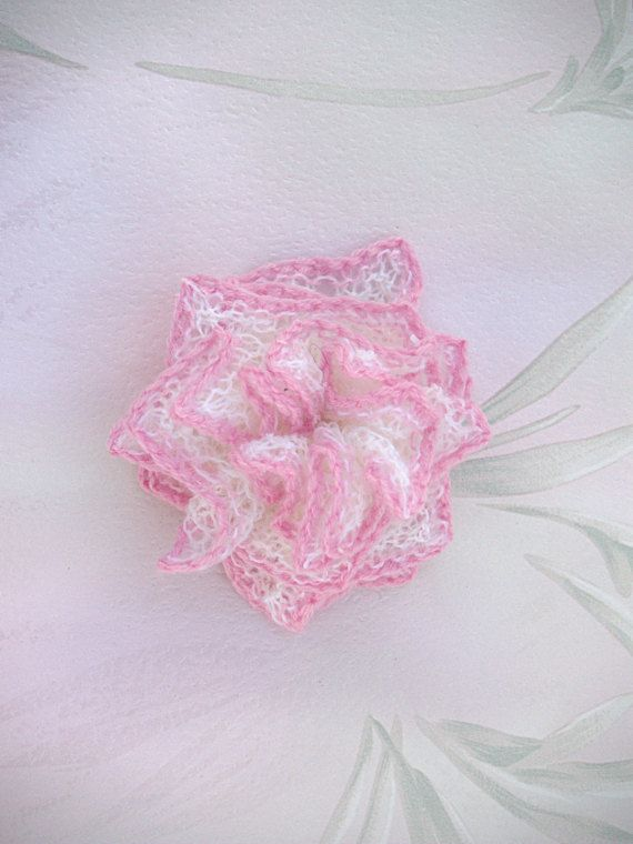 Bridal Hair Accessory Hand-knit Flower by ArtanisWeddingLace