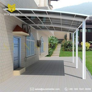 Gate Door Patio Cover Walled Attached 10 Projection Awning Prefab Metal Polycarbonate