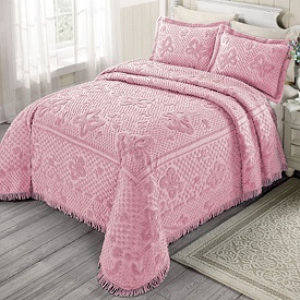 butterfly patterned chenille bedspread www.brylanehome.com
