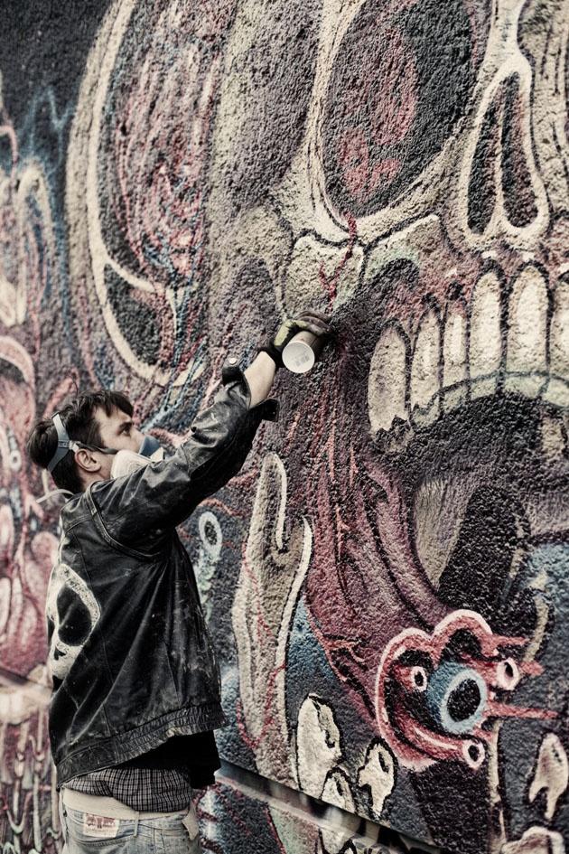 Nycho_04Street Art, Art Urbano, Artists Nychos, Metals Murals