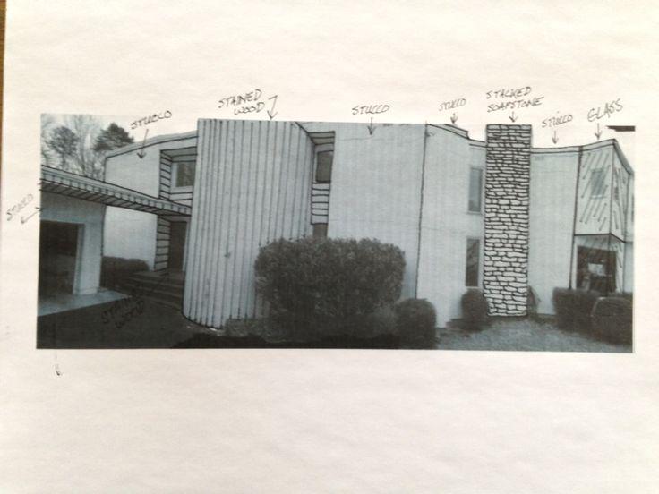 Exterior material sketch