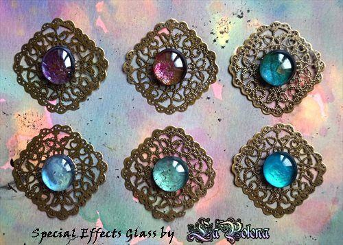 https://flic.kr/p/S2XJob | SPECIAL EFFECTS GLASS by La Polena | Jewelry making project. NEW COLOURS 2017