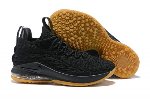 e422115e6786 2018 Mens Nike LeBron 15 Low Black Gum in 2019