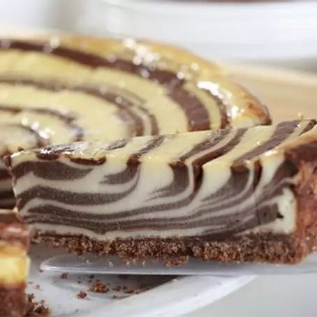Torta Zebra de chocolate