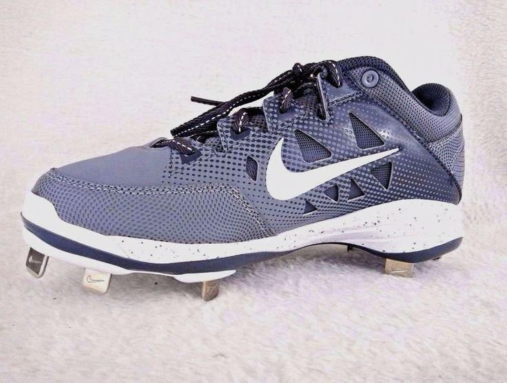 Nike Hyperdiamond Cleats 6.5 Womens Softball Gray White Metal Cleats New #Nike
