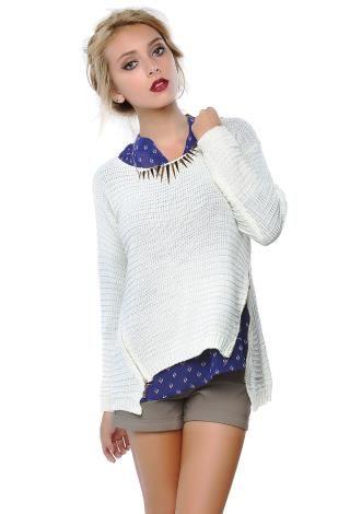 Zippered Knit Sweater | Shop Sweaters at Papaya