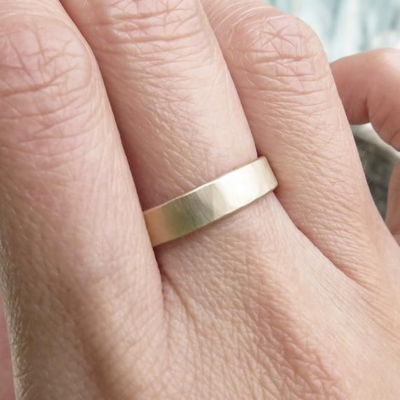 Silver Wedding Ring 8mm Wide Recycled Sterling Silver Flat Rectangle Brushed Matte or Shiny Polish Eco Friendly Band Men/'s Wedding Ring