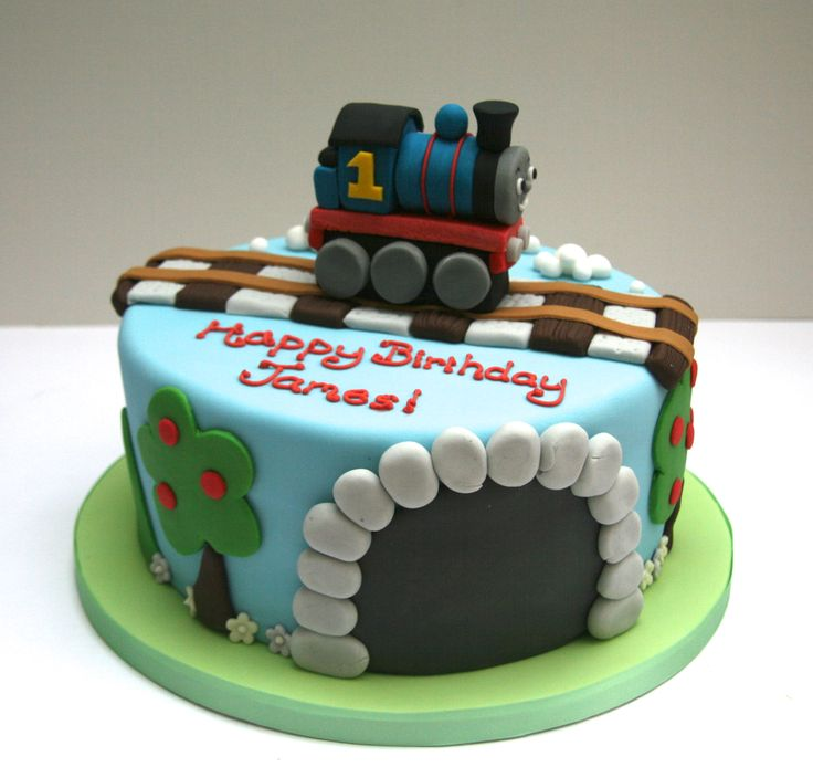 how to make a thomas train birthday cake