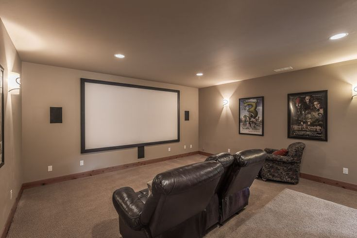 Home movie theater in this newly constructed White Water Lodge, located only a mile from Leavenworth #DestinationLeavenworth #Washington #WenatcheeRiver #homemovietheators
