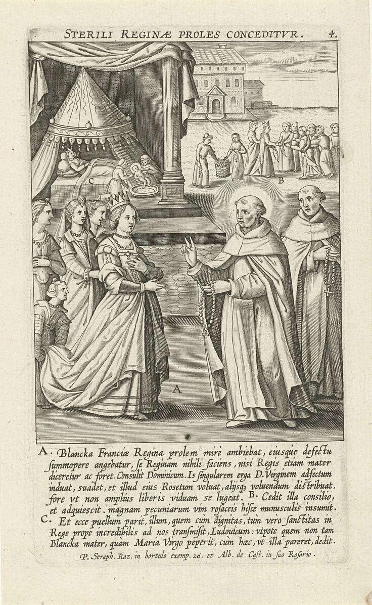 Mirakel van koningin Blanca van Castilië, Theodoor Galle, 1610