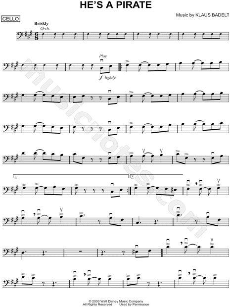 pirate of the caribbean sheet music pdf