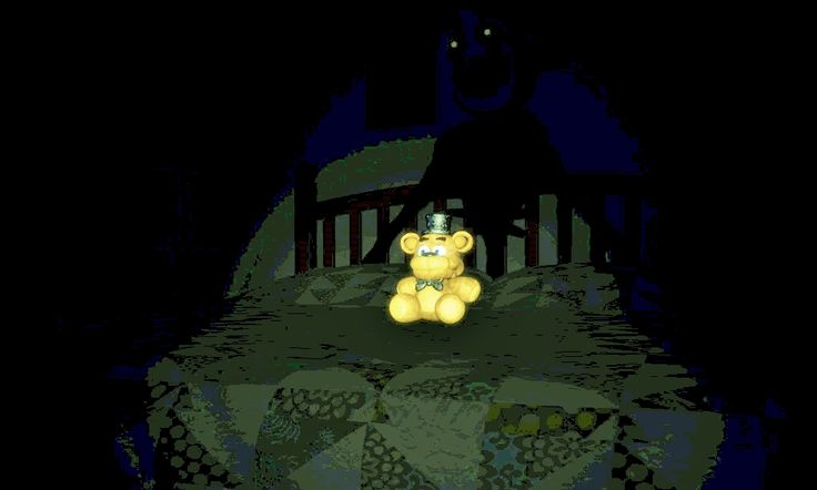 So i brightened up the new Fnaf photo and um ... it purty scary.