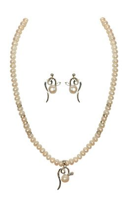 Classique Designer Jewellery Alloy Strand Necklace  Women (White) Necklaces and Necklace Sets on Shimply.com
