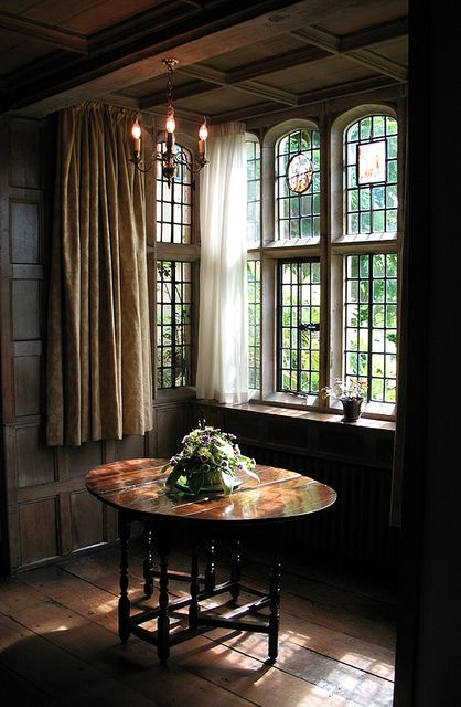 Window and table, Long Gallery, Packwood House by matthewallton, via Flickr