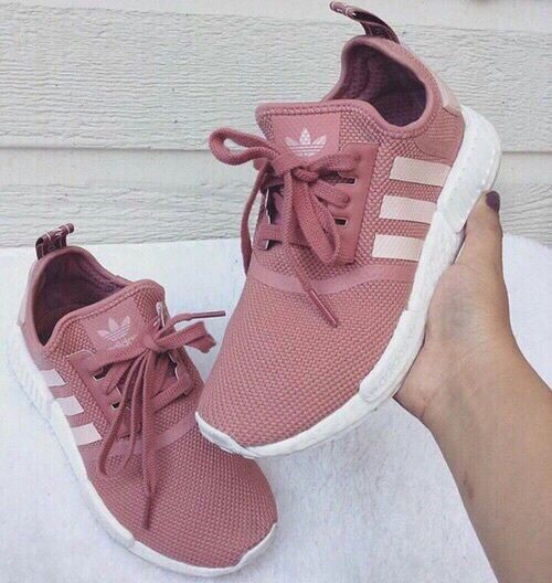 girls wearing pink adidas shoes grey and red adidas shoes