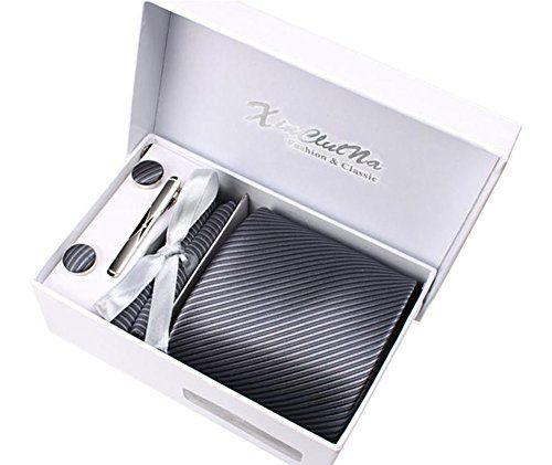 (Findes også med lyse striber, og mørk baggrund) Men tie, Handkerchief, stickpin and Cufflinks fashion bus... https://www.amazon.co.uk/dp/B01IVNF7UA/ref=cm_sw_r_pi_dp_x_.meZxbSK7R5H5