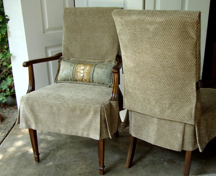 Two Arm Chairs With Custom Slipcovers By Mary Maki Rae