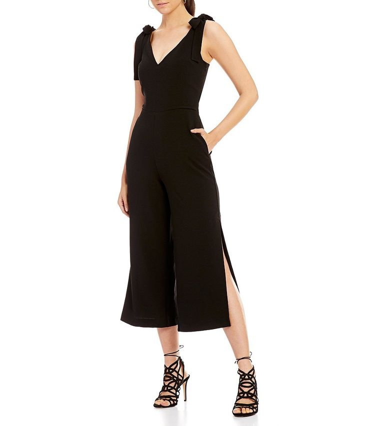Gianni Bini Tina Tie Shoulder Jumpsuit