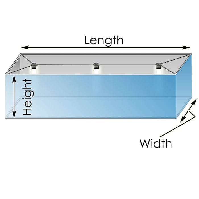 Custom Commercial Rectangle Lamp Shade in ANY Size or Covering You Desire