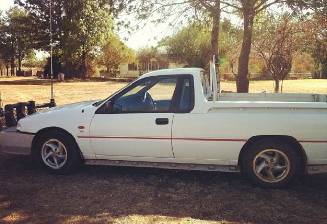 My ute before the paint job with the big roo bar