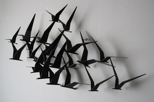 "C. Jere ""Birds In Flight"" via midcenturymodernfinds.com"