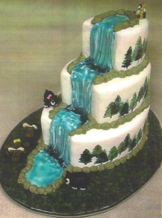 wedding cakes with waterfalls woodland waterfall cake other mixed shaped wedding 26134