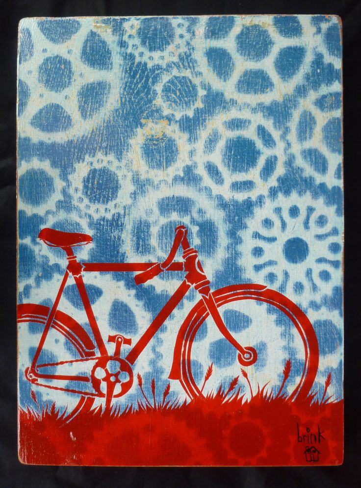 brinkley nelson messick original art, bike art, bicycle art, bike, bicycle, gears, mixed media, recycled, reclaimed