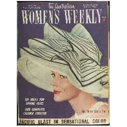 Sydney Opera House Hat by Peter Morton - Cover of The Australian Woman's Weekly 1962