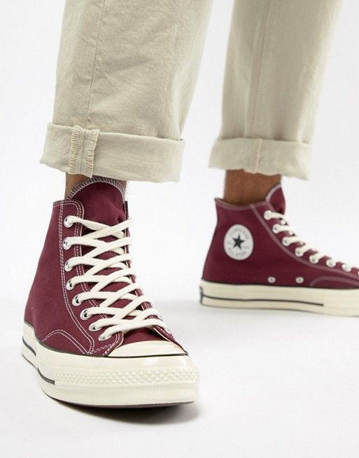 991daaba6e6256 Converse Chuck Taylor All Star  70 Hi Sneakers In Burgundy 162051C ...