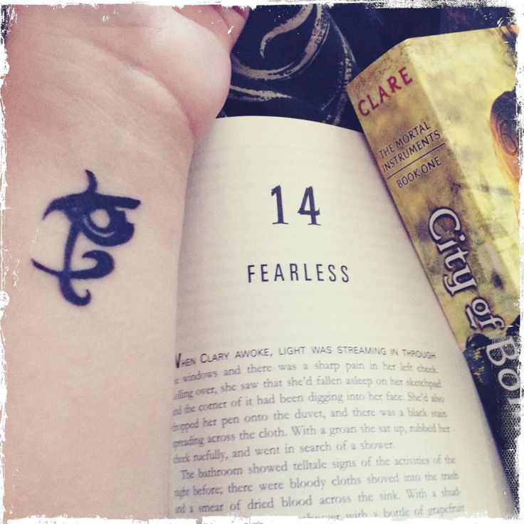 the mortal instruments tattoos   City Of Ashes Fearless Runes The Mortal Instruments