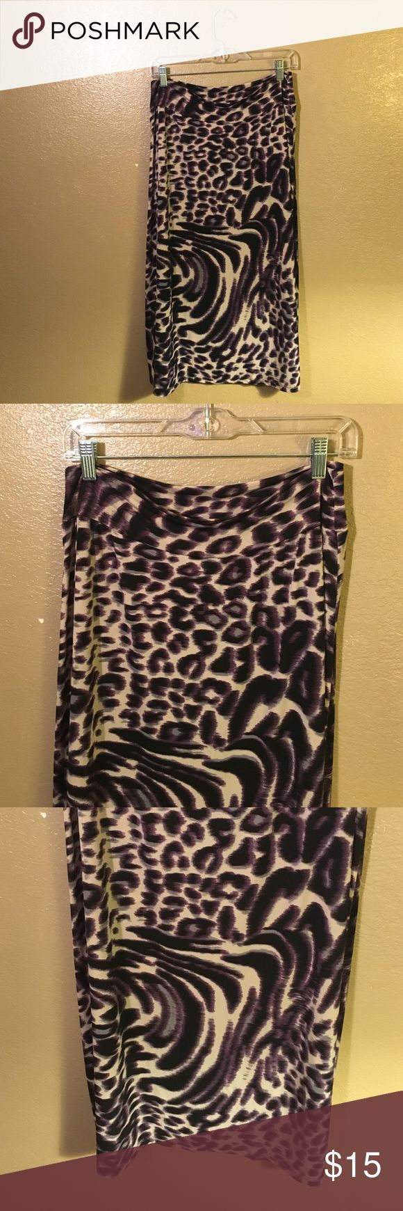 Purple Zebra/Cheetah Skirt Great condition, no stains or rips, any questions just ask. 🚫No Trades Skirts Maxi